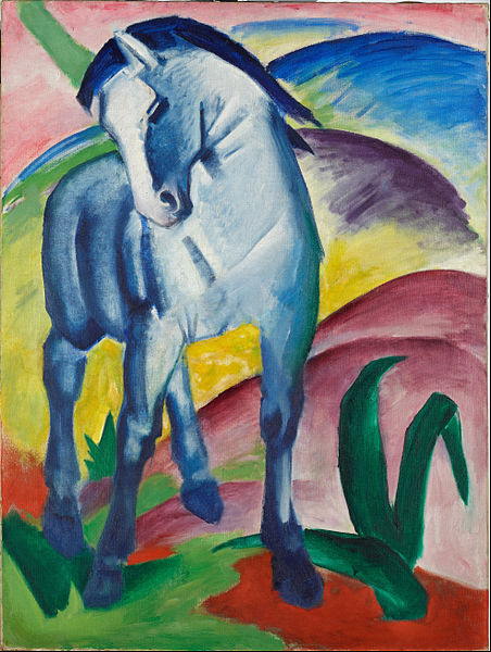 Marc Franz Blue Horse I Google Art Project